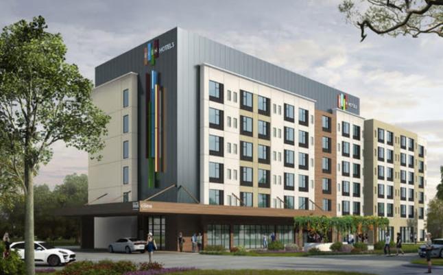 Rendering of the EVEN Hotel Property in Atlanta