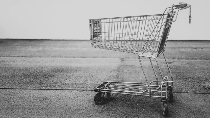 grey shopping cart - Unsplash