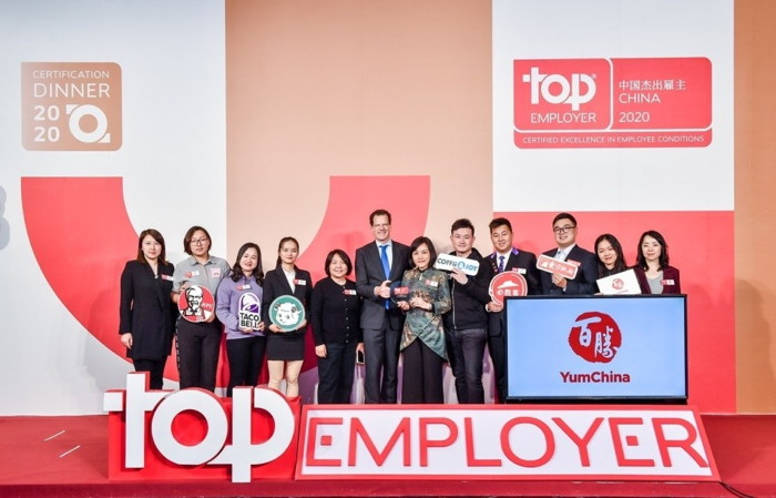 Yum China Certified Top Employer China 2020