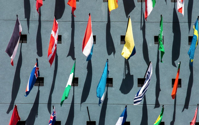 Photo of assorted-color nation flags on wall during daytime - Unsplash
