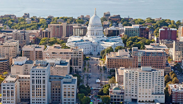 Madison, Wisconsin - Aerial view