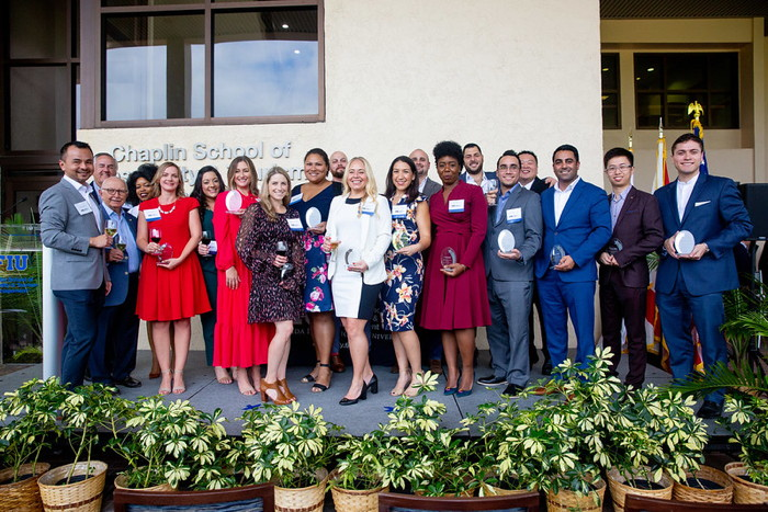 Image from Chaplin School of Hospitality & Tourism Management Rising Stars Alumni Awards ceremony