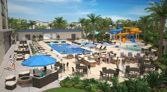 Rendering of the Cambria Hotel & Suites Anaheim Resort