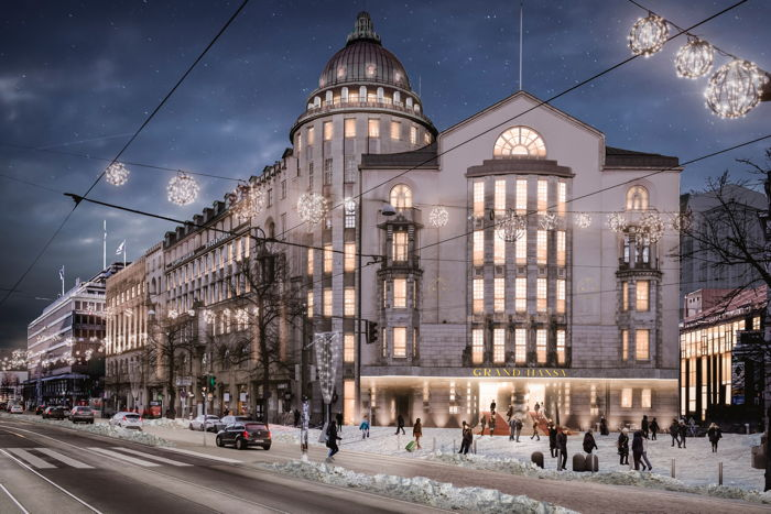 Rendering of the Grand Hansa Hotel