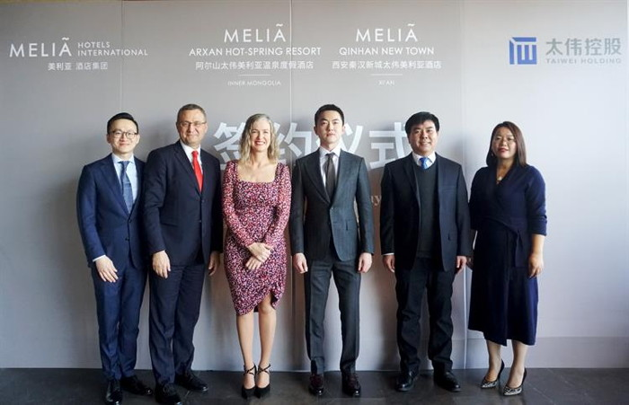 Image from Meliá Hotels China signing ceremony