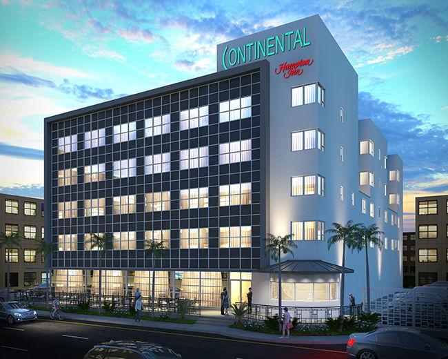 Rendering of the Hampton Inn by Hilton Miami Beach Mid-Beach