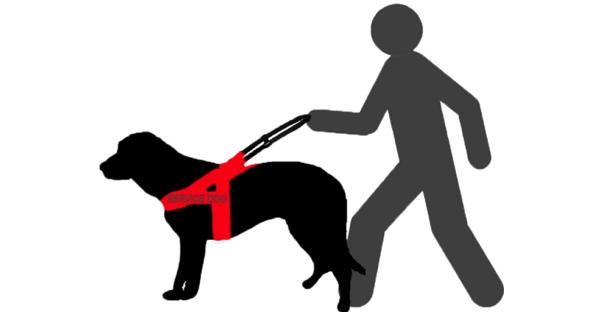 Illustration of a service dog