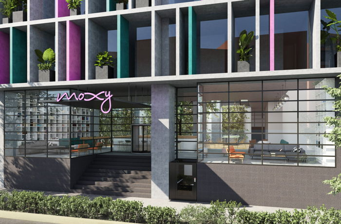 Rendering of the Moxy Mexico City Hotel