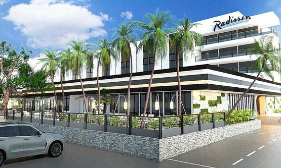 Rendering of the Radisson Hotel Saint Denis