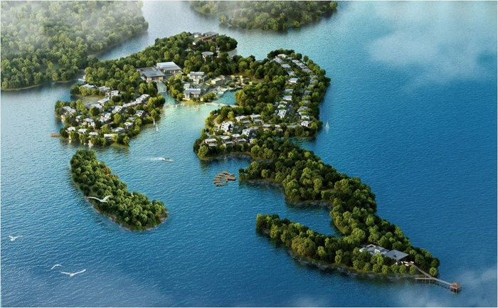 Lushan West Sea Resort, Curio Collection by Hilton - Aerial view
