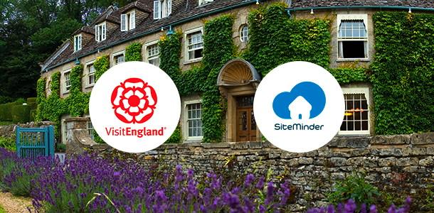 VisitEngland and SiteMinder logos
