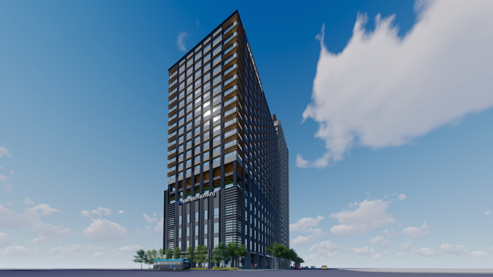 Rendering of the Hotel Nikko Kaohsiung