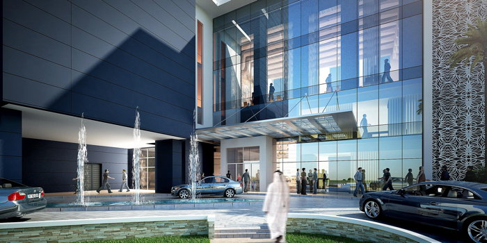 Rendering of the Crowne Plaza Dubai Marina Hotel - Entrance