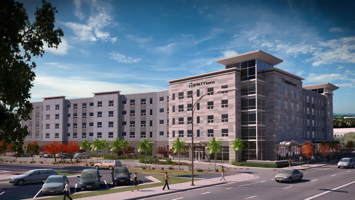 Rendering of the Hyatt House San Jose Airport Hotel