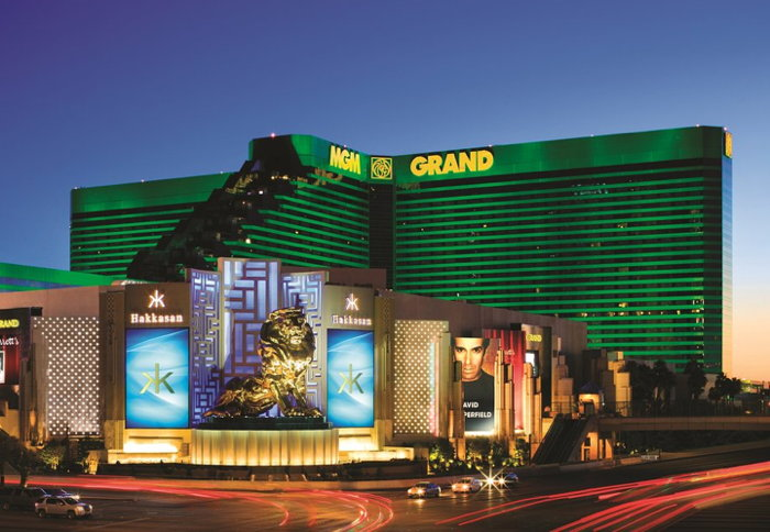 MGM Grand Las Vegas - Exterior at night
