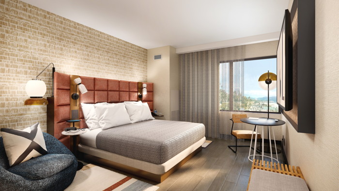 Rendering of a Tempo by Hilton guest room. Credit: NELSON Worldwide