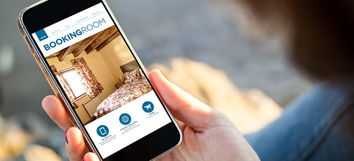 Screenshot - a mobile hotel app