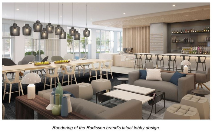 Radisson lobby design