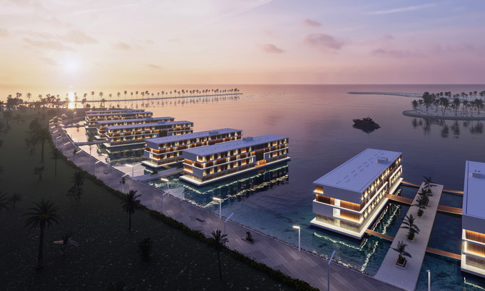Rendering of ADMARES Floating Hotels in Qatar