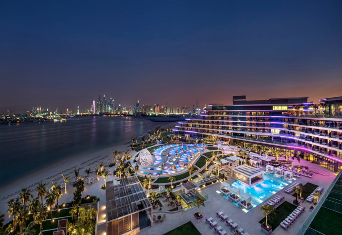 W Dubai - The Palm - Exterior at night