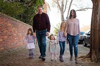Kristie McCauley and family