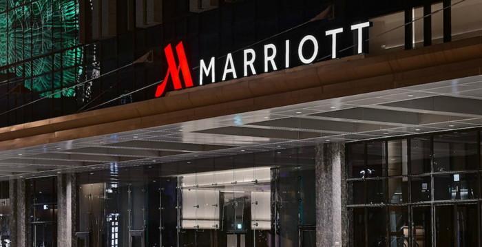Unnamed Marriott Hotel entrance