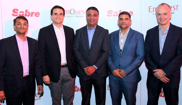 Executives from Sabre and dnata Travel