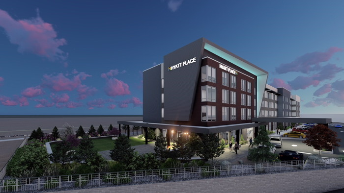 Rendering of the Hyatt Place Hotel at The Summit