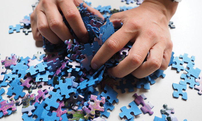 A jigsaw puzzle