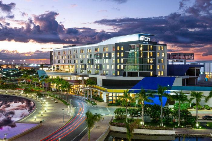 Exterior of Aloft San Juan Hotel