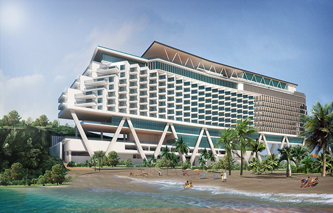 Rendering of the the Nautilus Resort, Curio Collection by Hilton