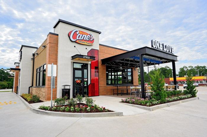 A Raising Cane's restaurant