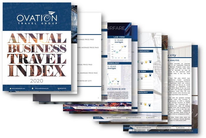 Ovation 2020 Annual Business Travel Index - Cover