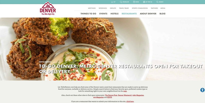 ToGoDenver.com - screenshot