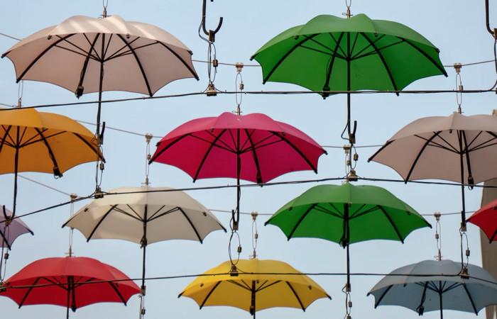 assorted-color umbrellas hanging - Unsplash
