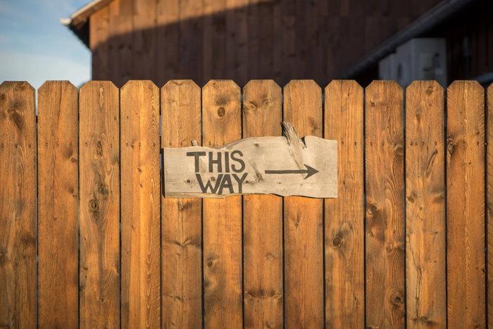 This Way sign - Unsplash