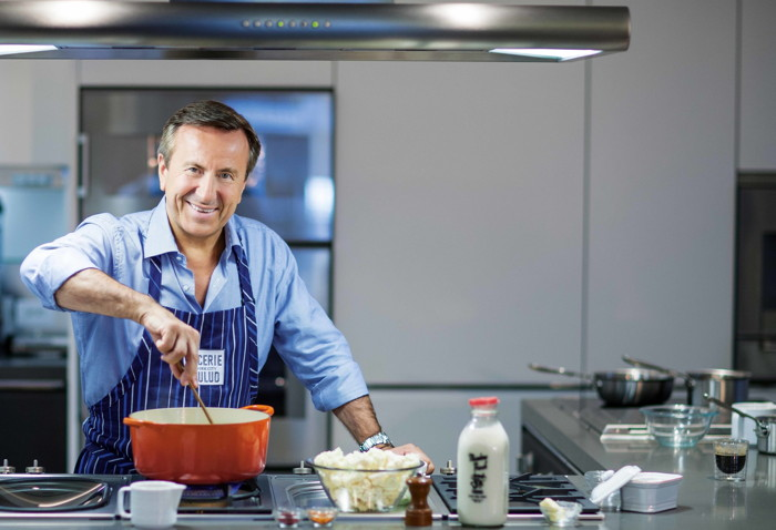 Chef Daniel Boulud in the kitchen