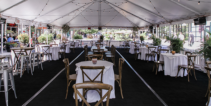 A restaurant in a tent - Source National Restaurant Association