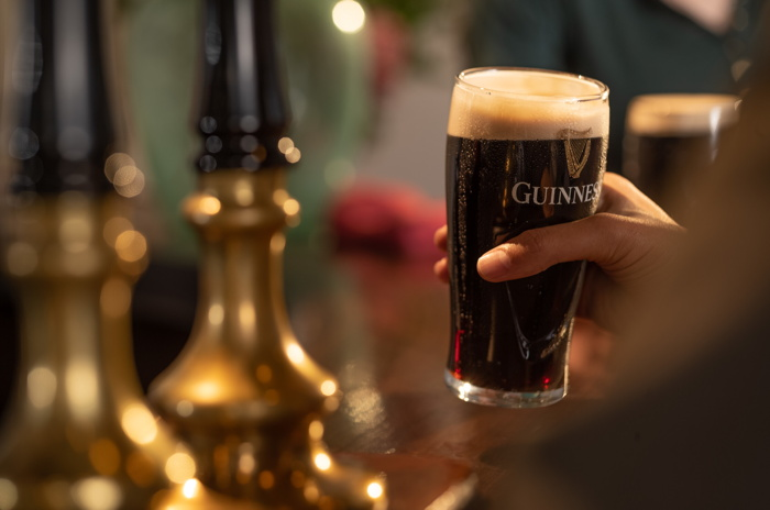 A glass of Guinness beer
