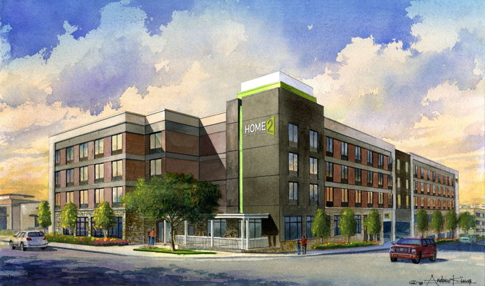 Rendering of the Home2 Suites by Hilton Fort Worth Cultural District