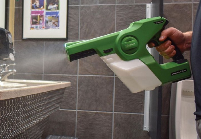 A fogger used in a hotel bathroom