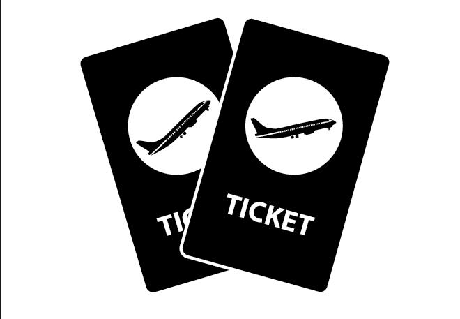 Illustration - air fare concept