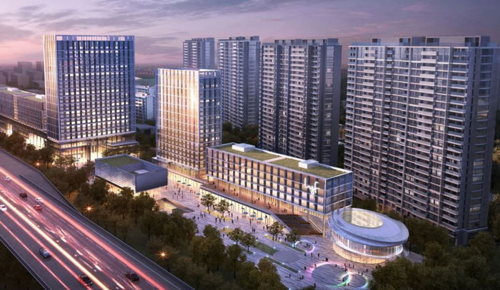 Rendering of the lyf Midtown Hangzhou