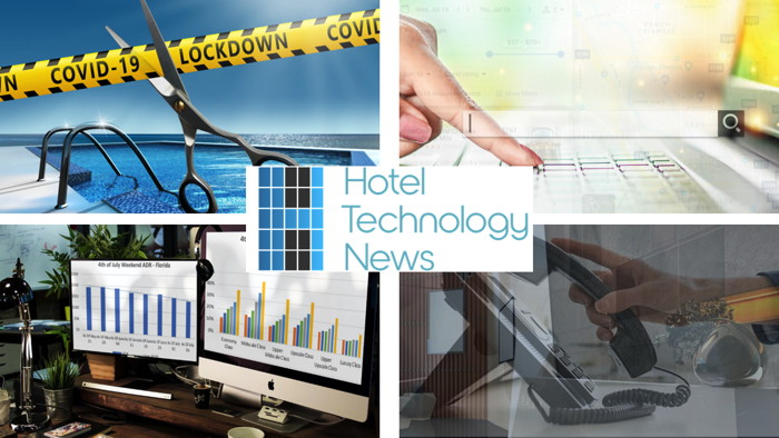 Collage of technology news images