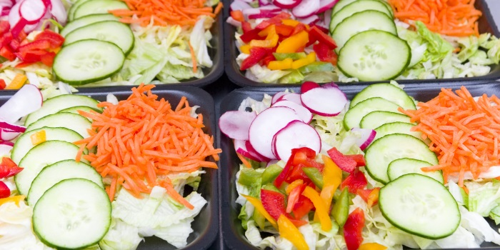 A salad tray - Source National Restaurant Association