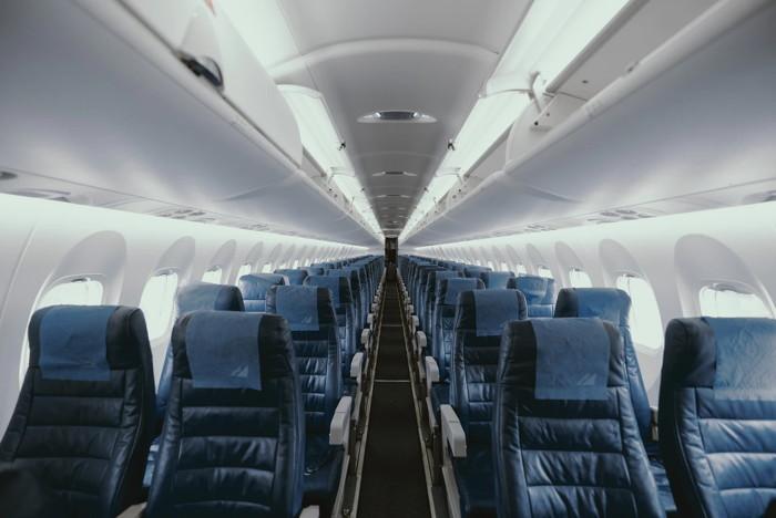Empty airplane interior - Unsplash