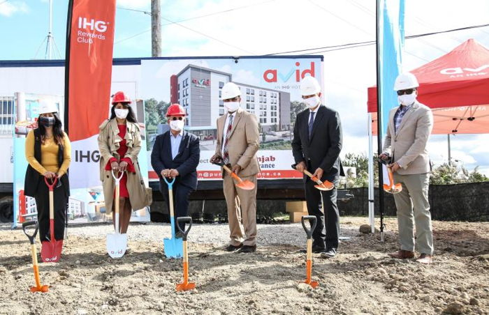 Image from the groundbreaking ceremony of the avid hotel in Vaughan