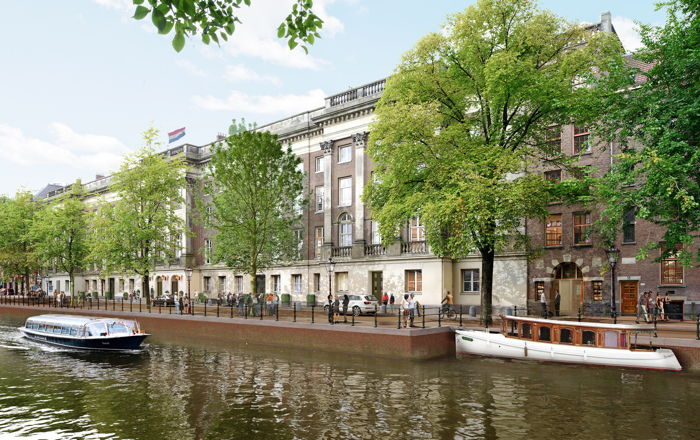 Rendering of the Rosewood Amsterdam Hotel