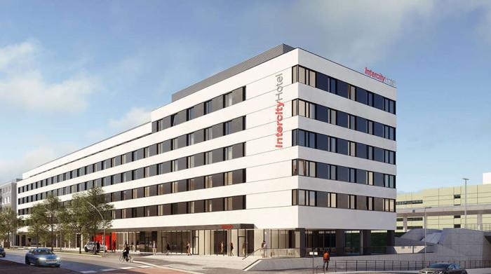 Rendering of the IntercityHotel Graz