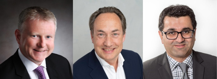 Jonathan Mills, chief executive officer, Choice Hotels Europe; Olivier Macpherson, regional finance director, Choice Hotels Europe; Neerav Dudhwala, head of Ascend Hotel Collection, Choice Hotels International.